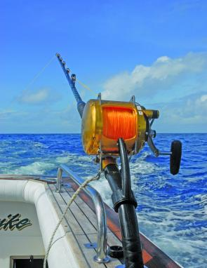 This is the last time we saw line on this reel, just before it was completely spooled by a big billfish.