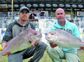 Brothers Brett and Brad Gill display their captures.