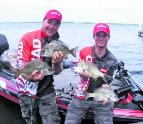 Scott Butler and Guy Struthers with some of their winning fish.