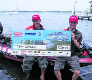 Team Simrad edged out their mates from Team Lowrance to take out first place.