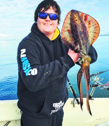 John Macleod took this big Quail Bank calamari.
