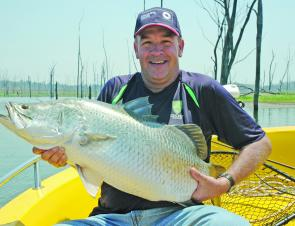 Mike Young with an unlucky barra that took plenty of catching.