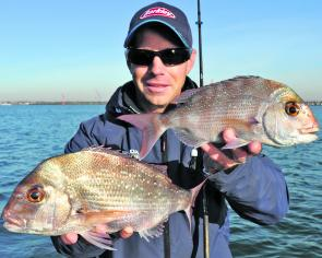 What the winter run of pinkie snapper may lack in size, they generally make up for in numbers.