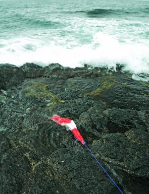 If berleying from the rocks ensure your berley bag is secure, strong waves and currents can pull it into the water.