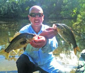 Bic Fox caught these bass in the Georges River before the closed season started on June 1.