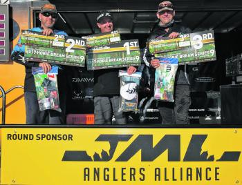 The winners of the JML Anglers Alliance Round 6 of the Hobie Kayak Bream Series 9.