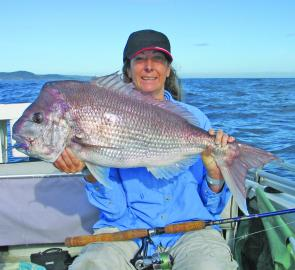 Deb Peters smashed her previous 5kg PB with this 7.4kg screamer.
