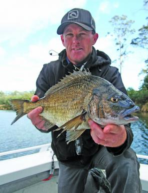 Sean Gower from Fishing Charters St Helens with a 41cm Scamander River bream.