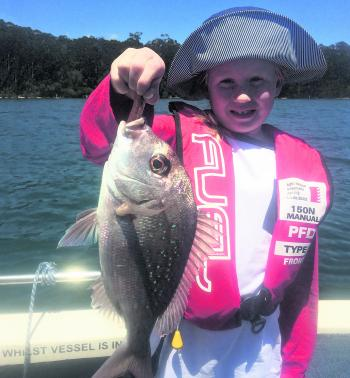 Katherine King managed to catch this kilo sized snapper at Wagonga Inlet, a great catch and awesome to see kids out fishing.