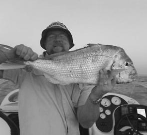 Kanen Dicker has enjoyed some productive fishing offshore of Inverloch for snapper like this.