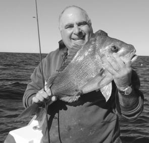 The author caught this nice snapper in 40m on a floating pilchard bait.