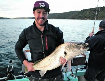 This 90cm mulloway hit a bonito strip – not bad for a first keeper fish.