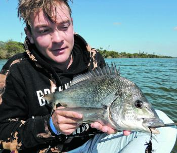 Blades are deadly lures on bream and Joel Petzke lands a good fish while slow tweaking a Hurricane lure. Get the technique slightly wrong and you will go fishless.