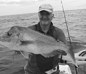 Snapper like this always get anglers excited and they are around out from Caloundra at the moment.
