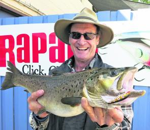 Mark France with a good brown on a Rapala.