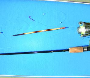 Typical garfish rig complete with float.