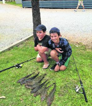 The kids are having fun on the flathead. Even though they are a bit quieter in July, reasonable numbers are possible for the keen angler.