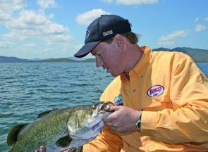 Fishing the bays close to the main basin will produce barra in Lake Awoonga provided the weather is favourable.