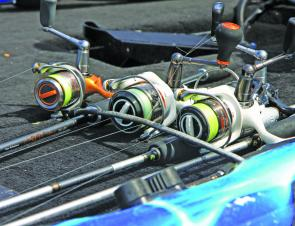 Hickson used an assortment of Daiwa rods and reels to catch his tournament winning fish.