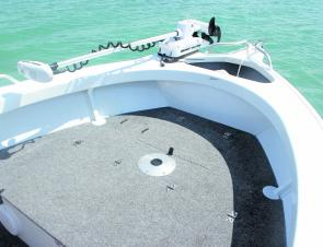 The front casting deck is an awesome fishing platform. It perfectly complements the open layout of the boat.
