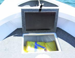 The underfloor esky and storage is very handy to keep everything out of the way and really frees up the fishing space.