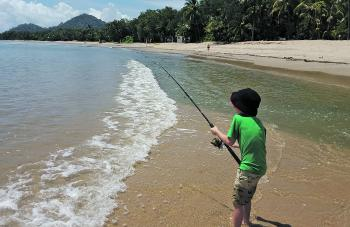 Fishing the small draining creeks on the run-out tides off the beaches is a good idea.