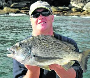 Steve Windsor extracted this great bream from a rocky wash.