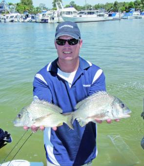There are some nice bream holding over the flats at Bribie Island this month.