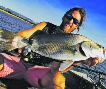 Mitch Chapman with a cracking Victorian barramundi from Hazelwood Pondage.