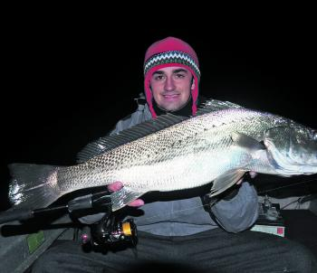 Sam Taylor has been putting in those cold night shifts, working on that river mulloway obsession.