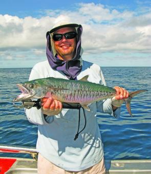 Spanish macks continue to carve up Cooktown waters, much to anglers' delight.