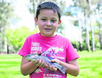 Ryan Brockwell was very excited to have the opportunity to go fishing in Merriwa Park during the spring school holidays recently.