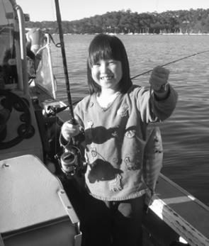 Alyssa Lo showed her older sister and brother how to catch them on a recent charter. Alyssa was ecstatic with her captures.