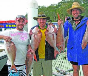 This great snapper haul was caught in close.