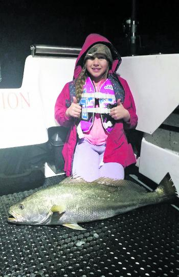 Lake Mac GFC angler Steve Dial took his daughter Briella out for an evening session on their boat Redemption on the lake recently, and this fantastic mulloway was her reward for putting in the big hours.