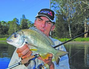 Bream this month will respond better to metal blades and soft plastics fished slow and deep.