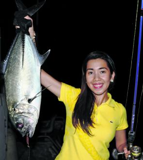 Newcomer to fishing Hazie with a decent big eye trevally.