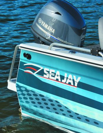Sea Jay now have their own wrap printing machine and offer a variety of designs and colours to make them an imposing sight on the water and at the ramp.