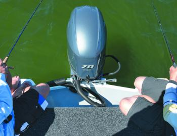 One of the advantages of the rear 'fish deck' is the ease of getting into and out of the boat. The other is the comfortable seating it offers when you want to fish over the back.