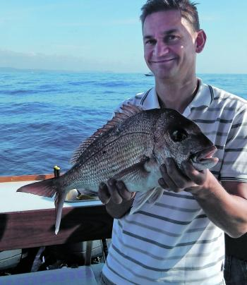 Decent snapper like this one can be caught along the coast now.
