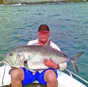 The Keppels are a great place to fish this time of year for trevally like this.