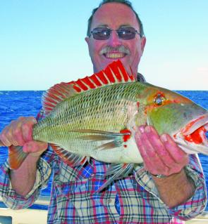Paul was pleased with yet another Swains Reef red throat.