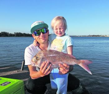 Ian Russell caught this 52cm snapper at the rowing club recently – a very welcome catch.