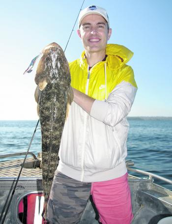 Flathead are a welcome by-catch while squidding in Sydney.