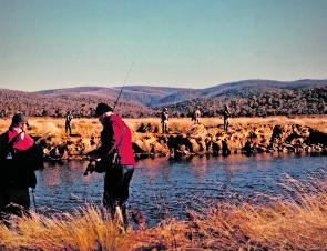 The Eucumbene River was crowded with anglers seeking a trophy brown during the spawning run in June but the season has now closed. The rainbows can travel on their spawning run with no disturbance from anglers until the season reopens in October.