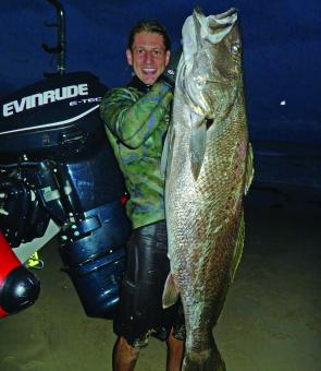 Leon Gray with a prize mulloway.
