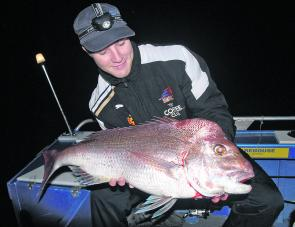 After tolerating a cold early morning start, Matt Mundy was rapt with this quality snapper taken on a Z-Man DieZel Minnow.