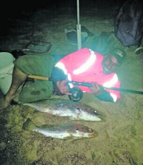 Neihana had never caught a jewfish before, so he caught two this night to make up for lost time!