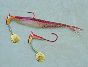 Salt Runner jigheads provide your soft plastics with extra flash and vibration.