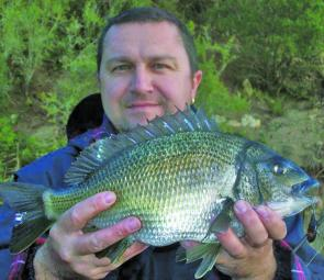 Frank Milito with a fine bream on a River2sea Baby Vibe.